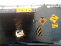 Low Clearnce Single Lane Tunnel to Abandoned Truck Stop Free Boondocking
