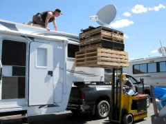 RV Datasat 840 Satellite Internet Dish Installation