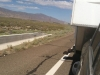 RV Trailer Steps down on Highway