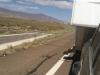 RV Trailer Steps down on Highway