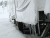 Frozen RV Trim Icicles on Arctic Fox