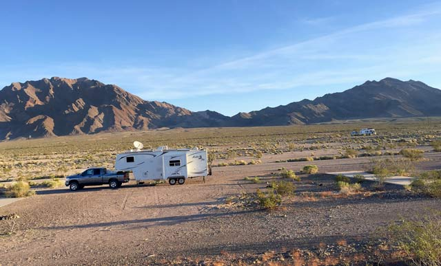 The Pads, Death Valley, dry camping, no cell service