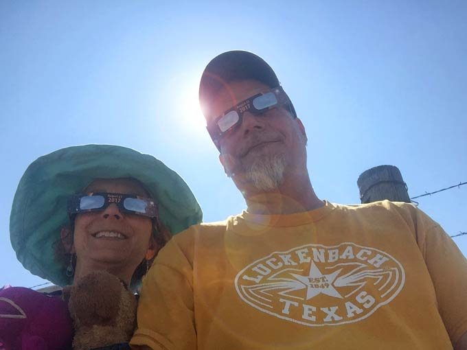 2017 Total Eclipse Wyoming Selfie