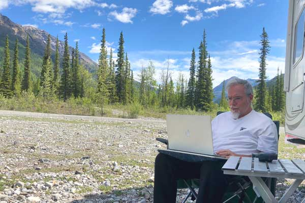 RVing and Working from the Alaska Highway