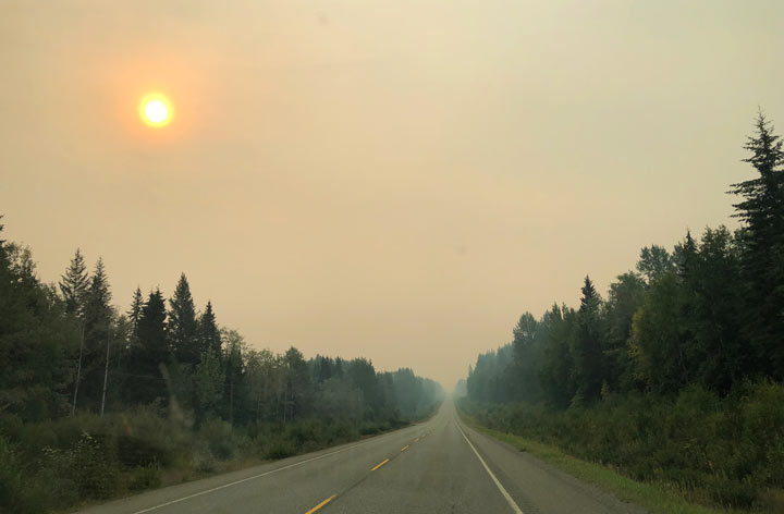 Smoky Banff Skies