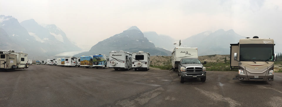Boondocking at Columbia Icefields