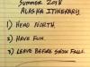 2018 Alaska Itinerary