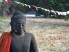 Budha and Prayer Flags at Mt Shasta Shtupa