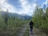 Running along Petersen Creek in British Columbia