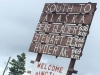 Stewart Cassiar Highway 37 South Sign Near Watson Lake