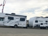 Overloaded RV and Trailer in Watson Lake, YT