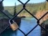 Miles Canyon Suspension Bridge Lock of Love