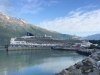 Cruise ship at port in Skagway Alaska
