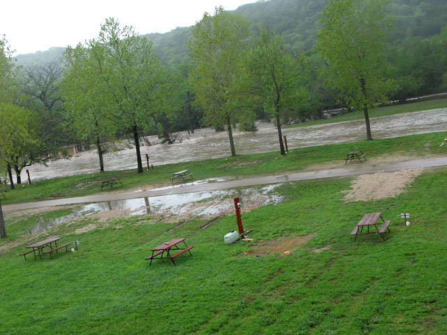 By The River RV Park Morning After Flash Flood Evacuation