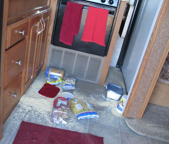 RV kitchen mishap