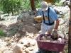 Jim builds rock path at Jerry's Acres
