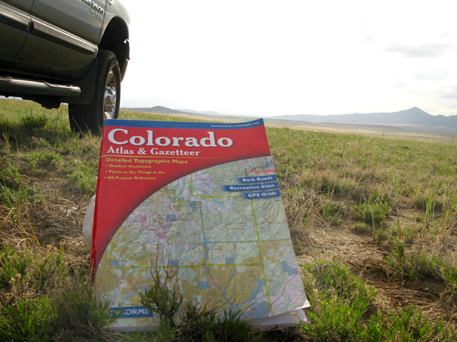 Colorado Gazeteer Road Map