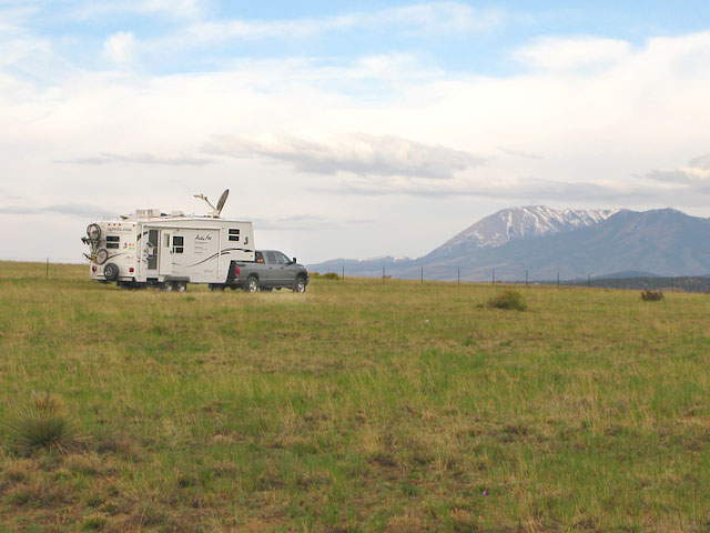 I25 BLM RV Boondocking Walsenburg, CO