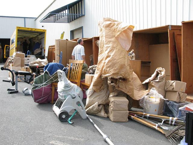Full Storage Crates at Humboldt Moving