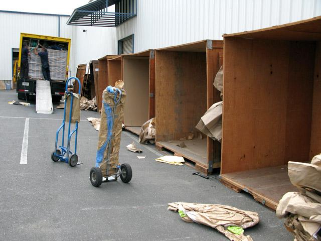 Empty Storage Crates at Humboldt Moving