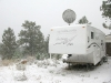 September Snow on Snowbird Trailer in Crystal Lakes