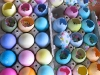 Colorful Cascarones Confetti Filled Easter Eggs