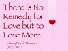 The Remedy for Love is to Love More