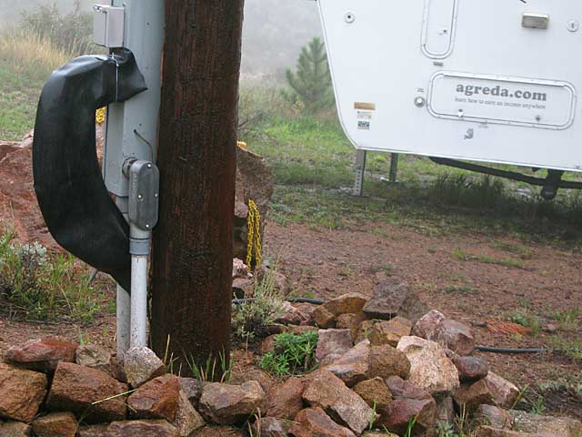 DIY RV Power Service Hookup Rain Protection