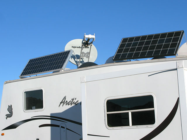 RV Office Solar Power and Satellite Internet