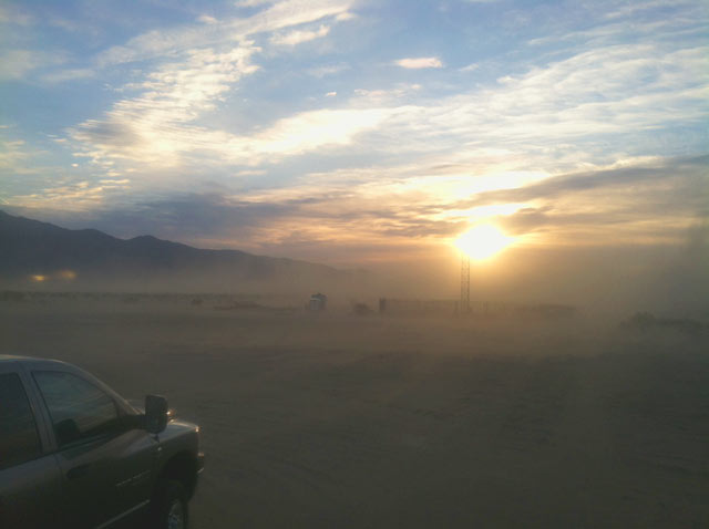Anza Borrego, California, boondocking, dust storm