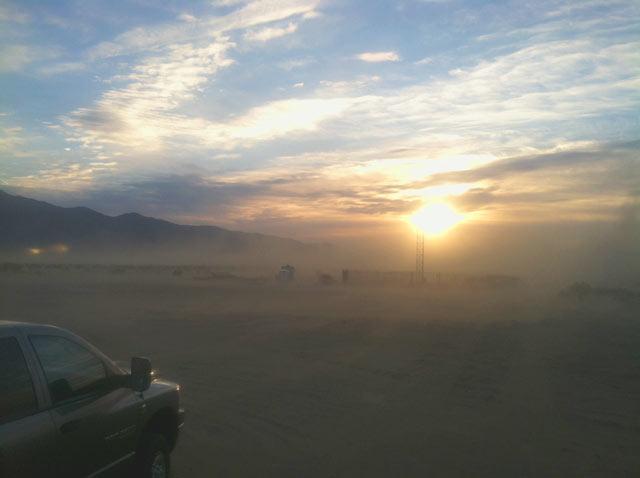 Anza Borrego, California, boondocking, dust storm