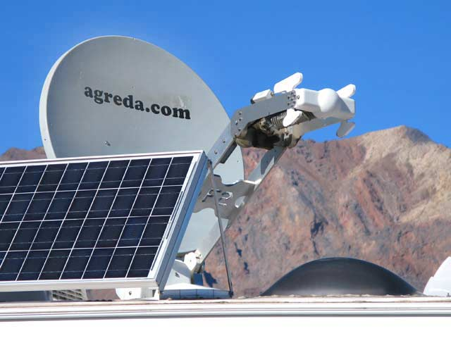 Solar Powered RV Satellite Internet