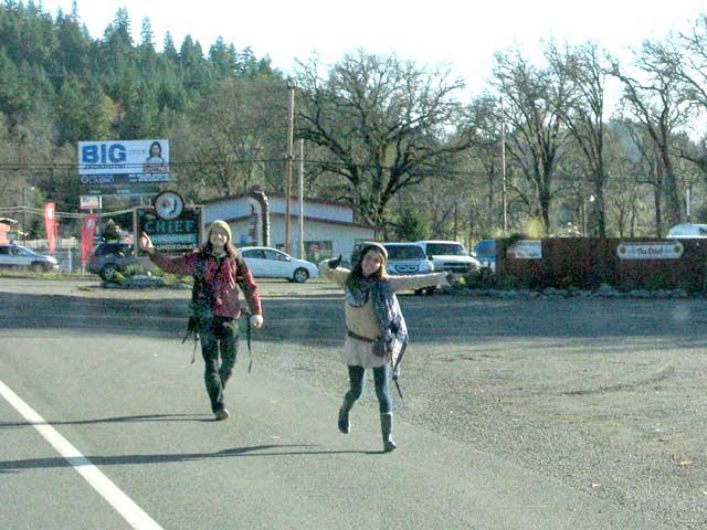 Hippies Hitchhiking Garberville, CA