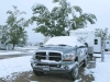 Snoww on RV at Fort Collins. CO KOA
