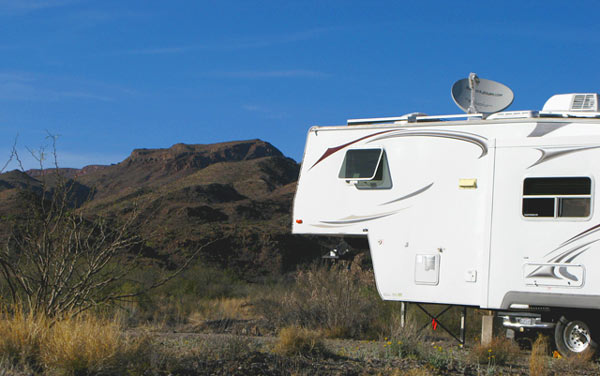 Big Bend Texas RVing camping full-timing