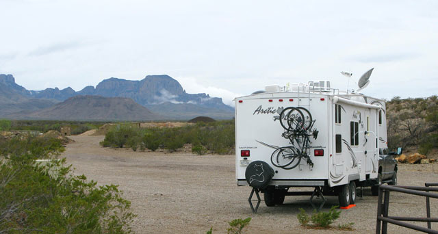 Big Bend RVing camping full-timing