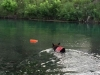 Wyatt swims the Comal at Landa RV Park