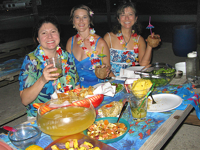 Babes of the Nu enjoy Luau Night