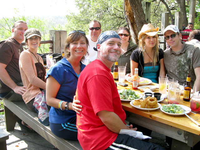 NuRVers dine out at Gristmill in Gruene, TX