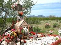 Elaborate Roadside Memorial Shrine Near Why, AZ