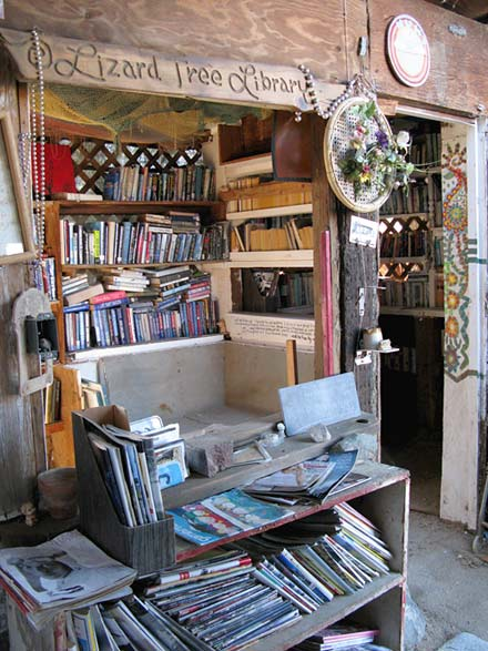 Lizard Tree Library Slab City