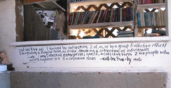 Slab City Library Decor