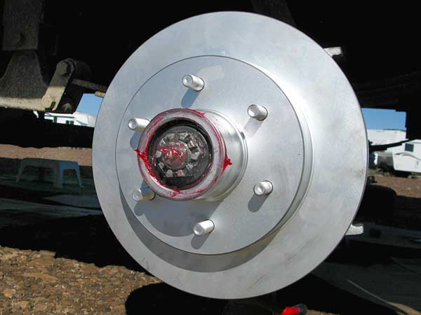 disc brakes, RV, hydraulic, conversion, fifth wheel
