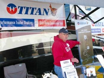 Performance Trailer Braking, Titan Trailer Disc Brakes Quartzsite Booth