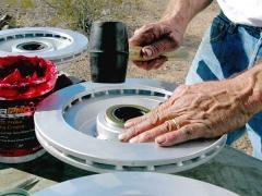 Titan Trailer Disc Brakes Installation, packing wheel bearings