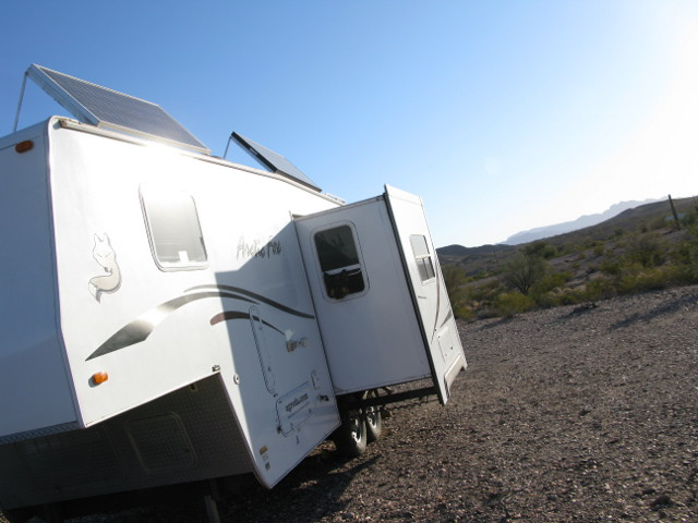 Boondocking in Quartzsite