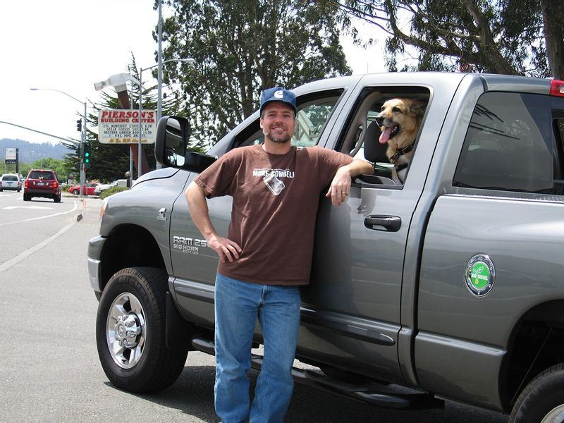 Jim with Trucker Cap Leaving Eureka CA