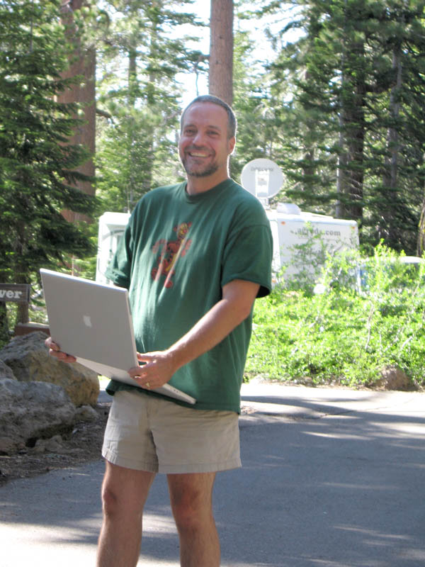 Jim with Apple Laptop
