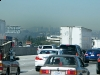 Smog Layer over L.A. Traffic