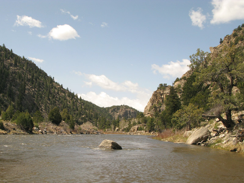 The Arkansas River at Hecla Junction near Salida, CO